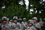 48th Brigade Trains at Camp Atterbury, Indiana