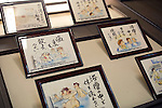 Photo shows cartoon drawings depicting bah house etiquette at Dogo Onsen, thought to be Japan's oldest spa in Matsuyama City, Ehime Prefecture, Japan on 20 Feb. 2013.  Photographer: Robert Gilhooly