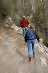 Dayhikers on Mt. Lemmon, in the Santa Catalina Mountains, Coronado National Forest, Arizona