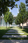 Path to the Gerald Ratner Athletics Center, Architecture of the University of Chicago campus, Chicago, Illinois, IL, USA