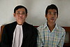 IBJ Cambodia Fellow Ouk Vandeth with Mao.<br />