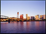 Downtown Portland sits on the Willamette River, Oregon