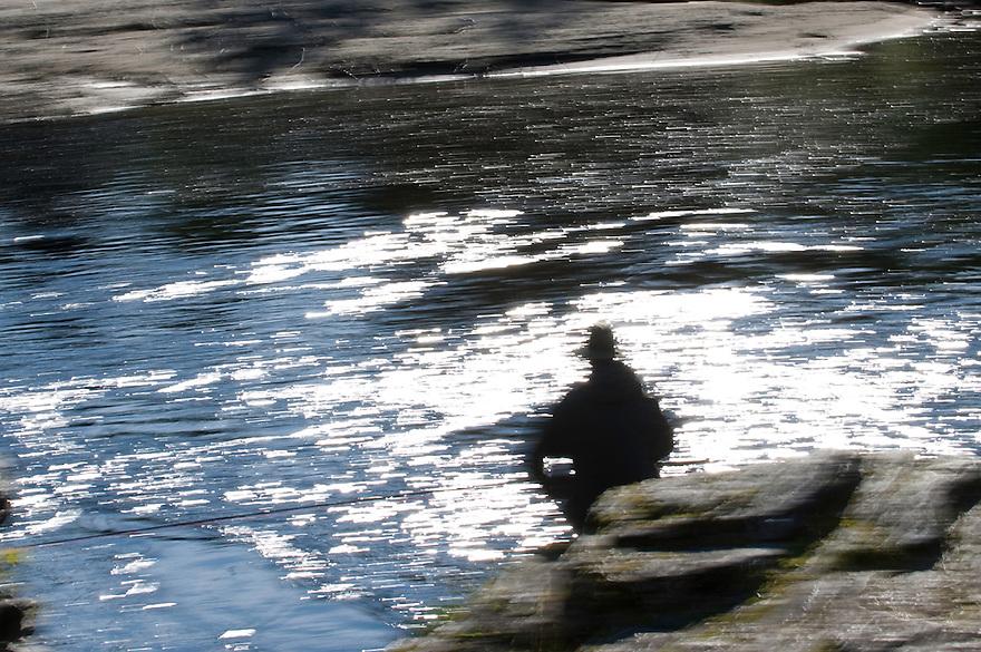 River Orkla, Rennebu, Norway<br /> Model name: Vegard Heggem. Model release by photographer.