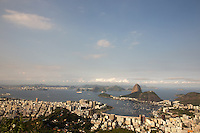 A General View Sugarloaf Mountain in Rio de Janeiro, Brazil, at the mouth of Guanabara Bay