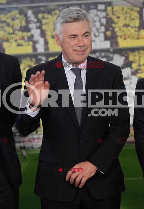Real Madrid's new coach Carlo Ancelotti during his official presentation. June 26, 2013. (ALTERPHOTOS/Acero) .<br /> &copy;NortePhoto