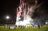 Santa Clara, Ca - Wednesday, November 7, 2012: The San Jose Earthquakes lost 3-2 on aggregate goals to the LA Galaxy at Buck Shaw Stadium.