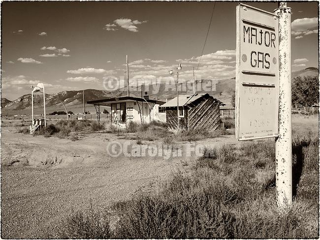 Abandoned gas station along US-93-50, East Ely, Nev.