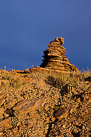 Native American rock cairn
