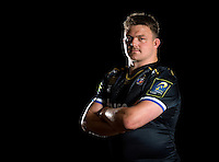 David Wilson poses for a portrait in the 2015/16 European kit during a Bath Rugby photocall on December 1, 2015 at Farleigh House in Bath, England. Photo by: Patrick Khachfe / Onside Images