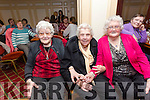 Enjoying the Sliabh Luachra Active Retired  tea dance at the River Island Hotel on Sunday were l-r Kitty O'Sullivan, Jenny O'Sullivan, Eileen Sheehy and Ann McAuliffe