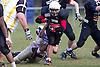 Bournemouth Bobcats (black jersey) vs Cornish Pirates (white jersey) - British American Football Association National League South West Division Two at Chapel Gate, Christchurch - 21/04/12 - MANDATORY CREDIT: Chris Royle/CRPHOTOS.CO.UK