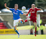 St Johnstone v Aberdeen...23.08.14  SPFL<br /> Gary McDonald and Willo Flood<br /> Picture by Graeme Hart.<br /> Copyright Perthshire Picture Agency<br /> Tel: 01738 623350  Mobile: 07990 594431