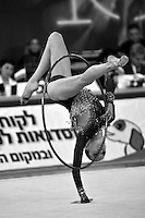 Arina Charopa of Belarus performs with hoop at 2011 Holon Grand Prix, Israel on March 4, 2011.  (Photo by Tom Theobald)