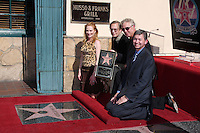 Marg Helgenberger, William Friedkin, William Petersen, & Leron Gubler  at  the Hollywood Walk of Fame Star Ceremony for WIlliam Petersen in front of Musso's & Franks Resturant in Los Angeles, CA on .February 3, 2009.©2008 Kathy Hutchins / Hutchins Photo..