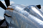 Fuselage and cowling of P-51 Mustang Unlimited Air Racer Precious Metal