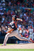 15 March 2009: #18 Daisuke Matsuzaka of Japan pitches against Cuba during the 2009 World Baseball Classic Pool 1 game 1 at Petco Park in San Diego, California, USA. Japan wins 6-0 over Cuba.
