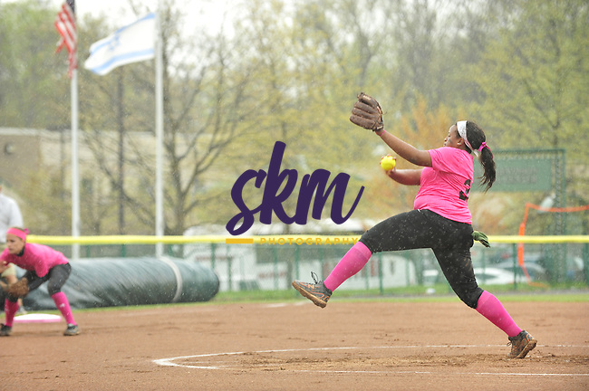 """Stevenson softball team hosted their annual Pink game to """"Strike Out Cancer"""" as they took on McDaniel in a double header wt Weinberg-Fine Stadium in Owings Mills on Wednesday afternoon."""