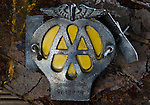 Old AA or Automobile Association Car Badge - Sept 2011