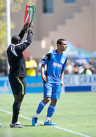 Geovanni in his first MLS game. The San Jose Earthquakes defeated the LA Galaxy 1-0 at Buck Shaw Stadium in Santa Clara, California on August 21st, 2010.