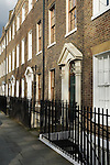 Highbury Fields London N1. Typical Georgian terrace houses. UK 2008.