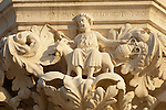 Detail from a column Top - The Doge's Palace - Venice Italy.