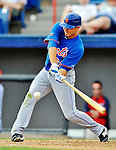 10 March 2012: New York Mets outfielder Matt den Dekker in action during a Spring Training game against the Washington Nationals at Space Coast Stadium in Viera, Florida. The Nationals defeated the Mets 8-2 in Grapefruit League play. Mandatory Credit: Ed Wolfstein Photo