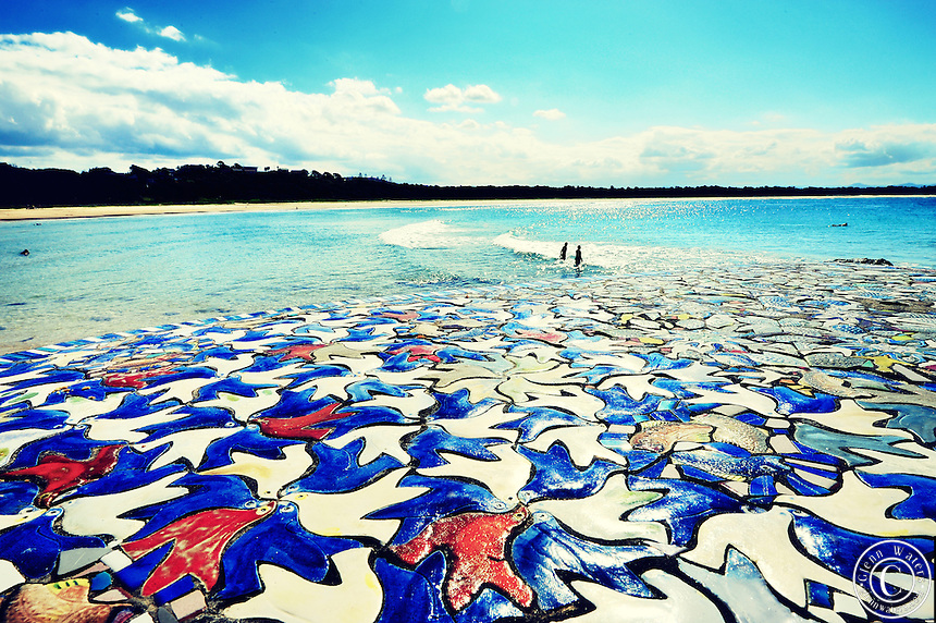 Scotts Head Australia  city images : Scotts Head beach NSW Australia. Looking over a mosaique tile table ...