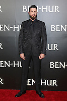 """HOLLYWOOD, CA - AUGUST 16: Toby Kebbell at the LA Premiere of the Paramount Pictures and Metro-Goldwyn-Mayer Pictures title """"Ben-Hur"""", at the TCL Chinese Theatre IMAX on August 16, 2016 in Hollywood, California. Credit: David Edwards/MediaPunch"""