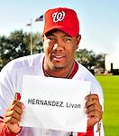 28 February 2010: Washington Nationals starting pitcher Livan Hernandez poses for his Spring Training photo at Space Coast Stadium in Viera, Florida. Mandatory Credit: Ed Wolfstein Photo