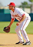 5 March 2006: Larry Broadway, first baseman for the Washington Nationals, ready for a play during a Spring Training game against the Baltimore Orioles. The Nationals defeated the Orioles 10-6 at Space Coast Stadium, in Viera Florida...Mandatory Photo Credit: Ed Wolfstein..