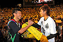 (L to R) Hidekazu Otani (Reysol), Yuki Otsu (Reysol),JULY 23, 2011 - Football : 2011 J.LEAGUE Division 1,6th sec between Kashiwa Reysol 2-1 Kashima Antlers at National Stadium, Tokyo, Japan. (Photo by Jun Tsukida/AFLO SPORT) [0003]