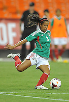 Bianca Sierra (3) of Mexico. The USWNT defeated Mexico 7-0 during an international friendly, at RFK Stadium, Tuesday September 3 , 2013.