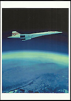 BNPS.co.uk (01202 558833)<br /> Pic: ChaucerAuctions/BNPS<br /> <br /> ***Please Use Full Byline***<br /> <br /> FY: The front of the postcard sighned by Mike Banister Chief Concorde Pilot signed colour Concorde on the edge of Space photo. Only 50 of these photos were flown on all the last seven concorde flights.<br /> <br /> Legendary airline pilot Mike Bannister is selling 100,000 pounds worth of his Concorde memorabilia so he can fund his daughter through flying school.<br /> <br /> Amy Bannister, 20, is hoping to following in her father's jet-stream to become a commercial airline pilot and is currently at a flight training school in Spain.<br /> <br /> The prestigious course is costing her a six figure sum.<br /> <br /> Her father Mike, 65, didn't want her burdened with debt at the start of her career and so stripped his study of Concorde relics, including cockpit instruments, and has put them up for sale at auction.