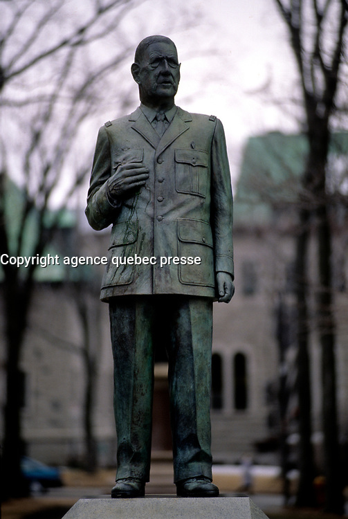Charles de Gaulle statue in Quebec City