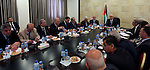 Palestinian Prime Minister, Rami Hamdallah, meets with delegation of businessmen, in the West Bank city of Ramallah, on Dec. 07, 2015. Photo by Prime Minister Office
