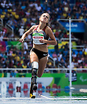 RIO DE JANEIRO - 17/9/2016:  Marissa Papaconstantinou competes in women's 100m T44 heats l at the Olympic Stadium during the Rio 2016 Paralympic Games. (Photo by Dave Holland/Canadian Paralympic Committee).