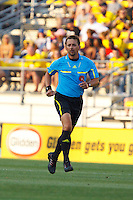 24 JULY 2010:  Referee Alex Bruce during MLS soccer game between Houston Dynamo vs Columbus Crew at Crew Stadium in Columbus, Ohio on July 3, 2010. Columbus defeated the Dynamo 3-0.