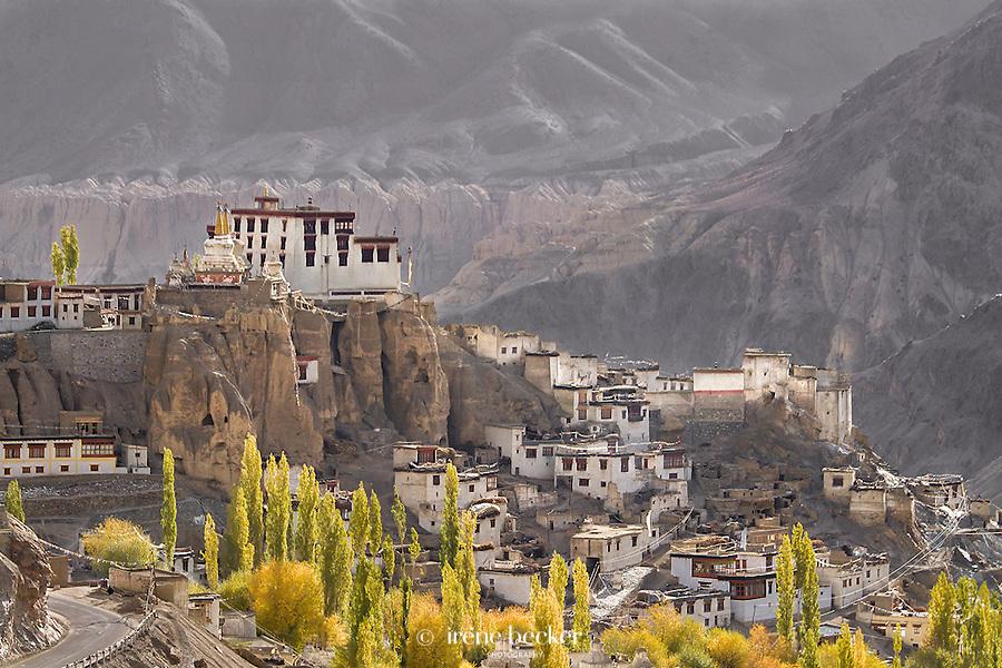 Autum morning in Lamayuru. Ladakh,Jammu and Kashmir,India