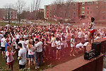 4/10/2011 -- Medford, MA -- Tufts' Hindu Student's Council hosted Holi, a Hindu sping festival, on the residential quad.  To celebrate, students threw colored powder and water at each other. (Kaveh Veyssi, A14, for Tufts University)