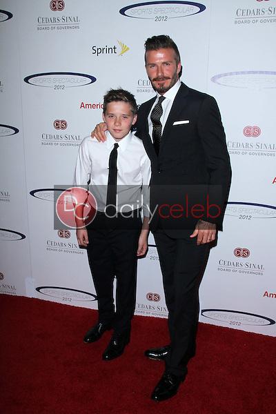 David Beckham and son Brooklyn<br /> at the 27th Anniversary Of Sports Spectacular, Century Plaza, Century City, CA 05-20-12<br /> David Edwards/DailyCeleb.com 818-249-4998
