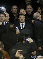 Paris Saint-Germain's David Beckham during Champions League 2012/2013