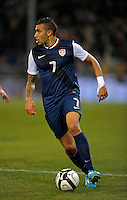 Danny Williams  (USA), during the friendly match Italy against USA at the Stadium Luigi Ferraris at Genoa Italy on february the 29th, 2012.