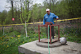Skipovac Donji. Todor Janković accidently released a deadly PROM-1 mine. Luckily the landmine was a dud and didn't kill him.