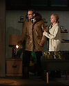 """THE RED BARN, by David Hare, based on the Georges Simenon novel """"La Main"""", opens in the Lyttelton, at the National Theatre. Directed by Robert Icke, with lighting design by Paule Constable, and design by Bunny Christie. Picture shows: Mark Strong (Donald Dodd), Hope David (Ingrid Dodd)."""