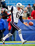 20 December 2009: New England Patriots' punter Chris Hanson warms up prior to facing the Buffalo Bills at Ralph Wilson Stadium in Orchard Park, New York. The Patriots defeated the Bills 17-10. Mandatory Credit: Ed Wolfstein Photo