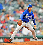 13 September 2008: Kansas City Royals' pitcher John Bale on the mound against the Cleveland Indians at Progressive Field in Cleveland, Ohio. The Royals defeated the Indians 8-3 in the first game of their rain delayed double-header...Mandatory Photo Credit: Ed Wolfstein Photo