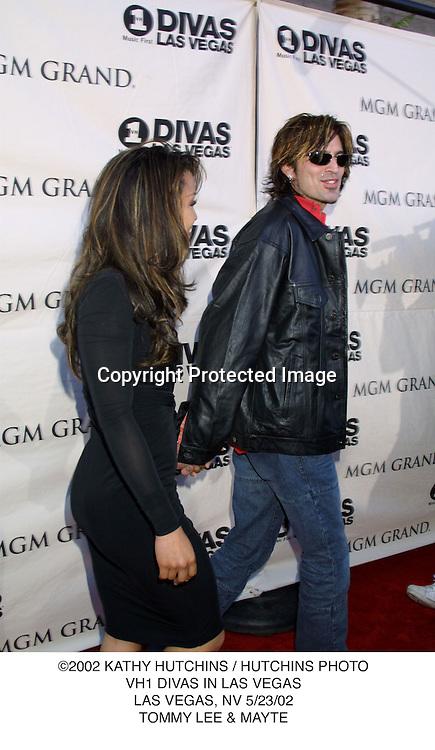 ©2002 KATHY HUTCHINS / HUTCHINS PHOTO.VH1 DIVAS IN LAS VEGAS.LAS VEGAS, NV 5/23/02.TOMMY LEE & MAYTE