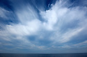 Twenty miles off the coast of California the sea meets the sky.