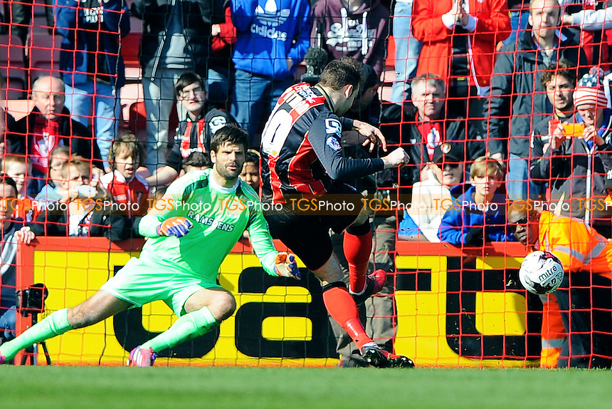 Brett Pitman of AFC Bournemouth scores the third goal from the penalty spot - AFC Bournemouth vs Middlesbrough - Sky Bet Championship Football at the Goldsands Stadium, Bournemouth, Dorset - 21/03/15 - MANDATORY CREDIT: Denis Murphy/TGSPHOTO - Self billing applies where appropriate - contact@tgsphoto.co.uk - NO UNPAID USE