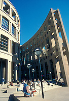The Vancouver Public Library Central Branch in downtown Vancouver, British, Columbia, Canada